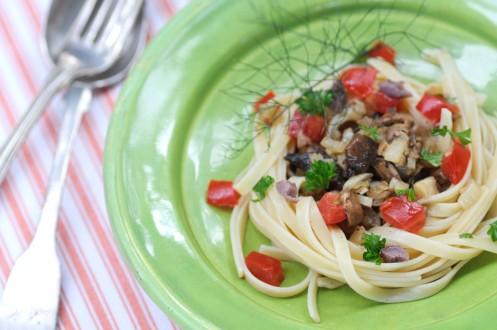 spaghetti med svampe.1
