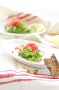 avocado med tangkaviar