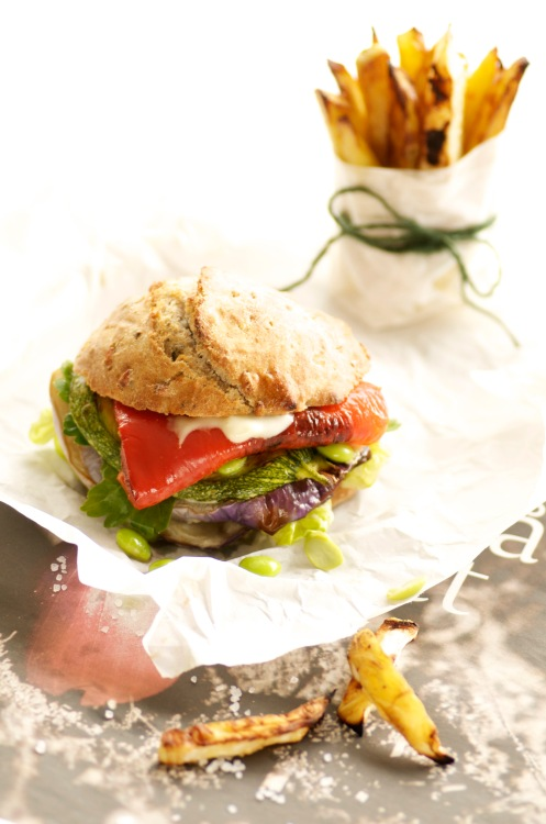 burger m.grill.grønt.