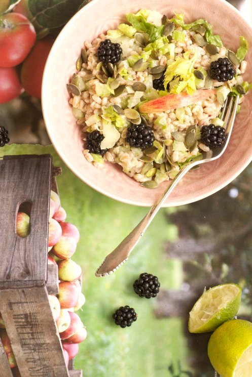 perlespelt:brombærsalat a