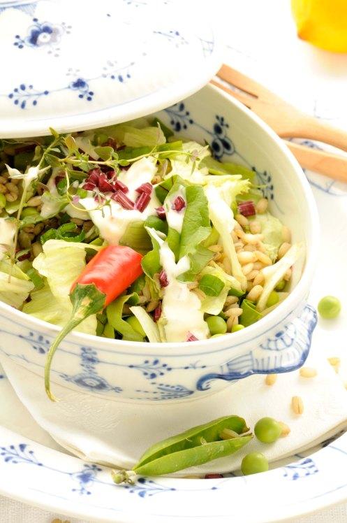 salat af perlerug, chilimayo