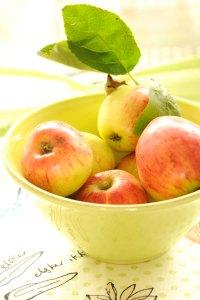 æbler i skål