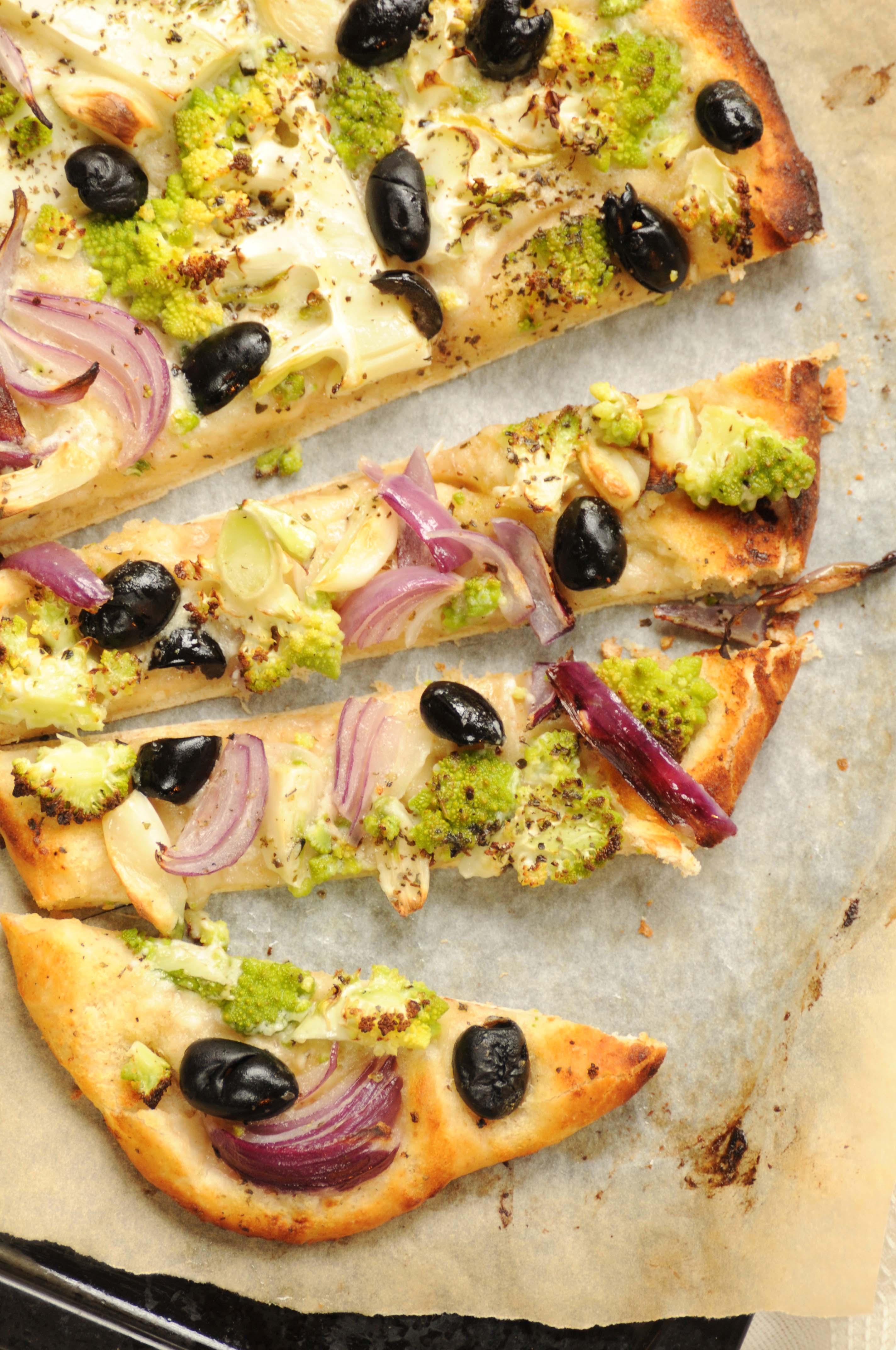 blomkål på pizza