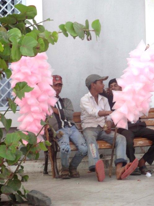 Pondicherry.lyserød slik