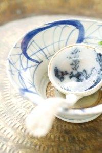 skål blå m ske