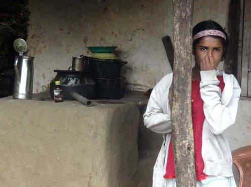 Sri Lanka.Pige i køkken