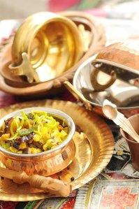 aubergine moju og skåle