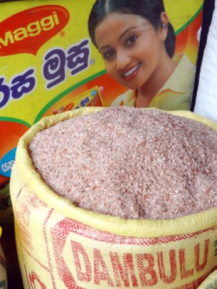 Sri Lanka.røde ris