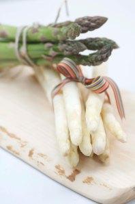 asparges grønne og hvide