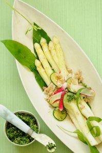 aspargessalat m hvedekerner
