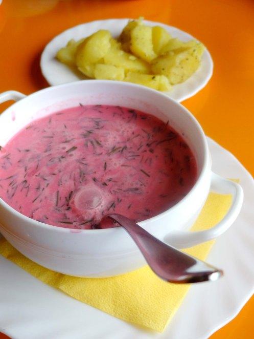 Kaunas.rødbedesuppe