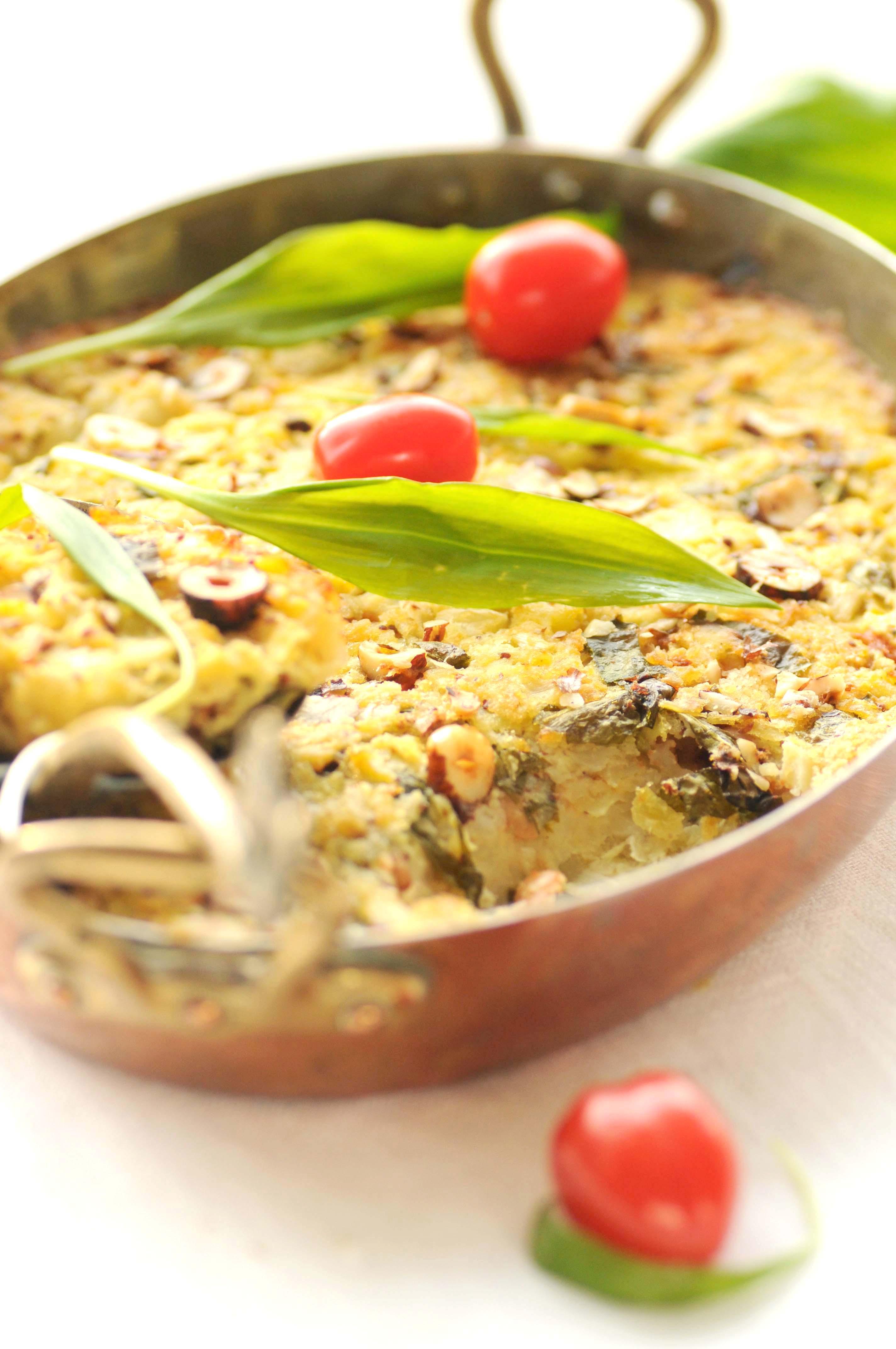 ovnbagt kartoffel- og sellerimos m. baked beans   Kødfri fredag