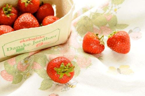 jordbær i bakke