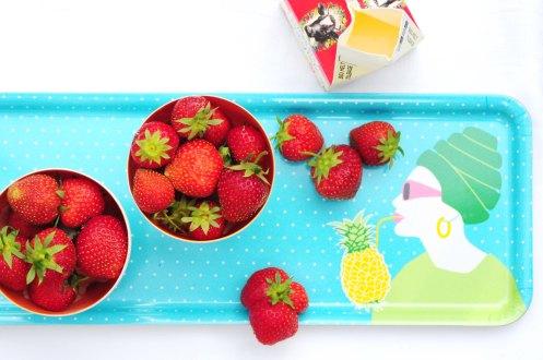 jordbær på bakke