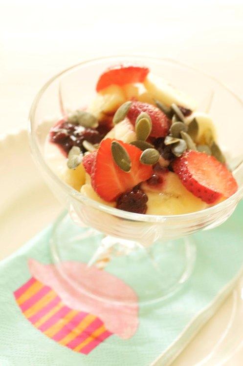 jordbær på yoghurt