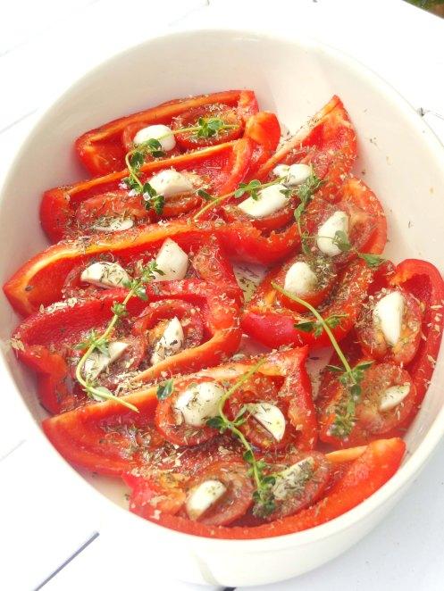 peberfrugter m hvidløg