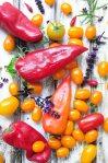 peberfrugter og tomater