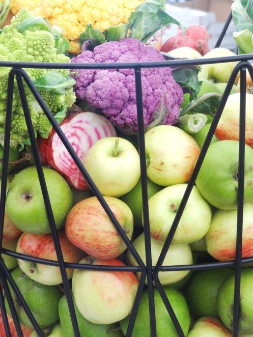 blomkål og æbler