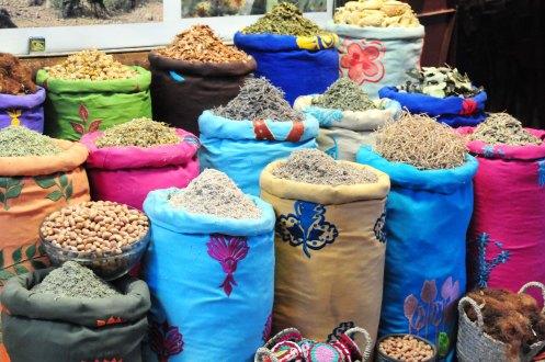 Marokk.kulørte sække
