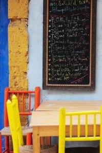 Marokko.stole og tavle