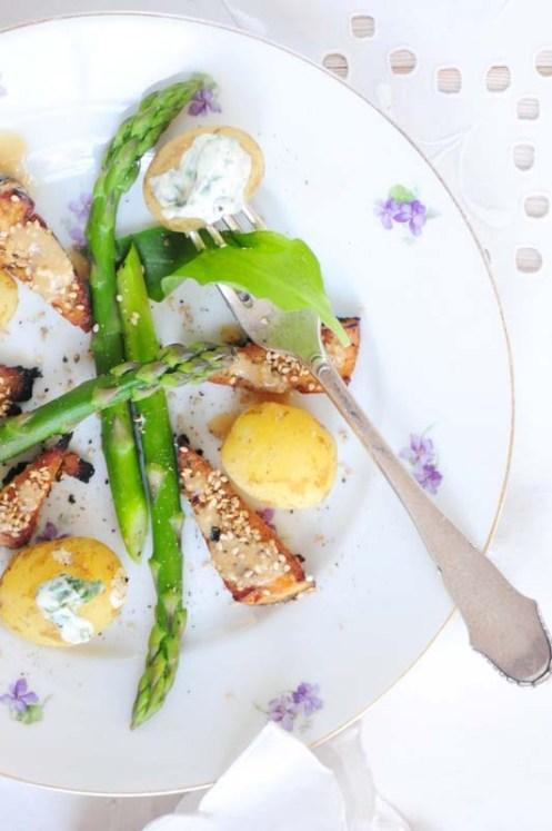 glaseret tofu m asparges 1
