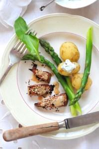 glaseret tofu m asparges 2